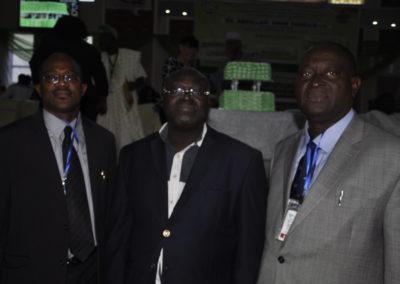 Dr. Bola Osinowo (President), Prof. Amani Georges (Vice President, Francophone) & Mr. Wole Toye (1st Vice President, NIFST & Ex-Officio)
