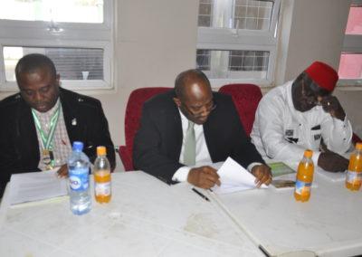 Dr. Chijioke Osuji (Immediate Past President, NIFST) Dr. Bola Osinowo (WAAFoST, President) & Prof. Amani Georges (Vice President, Francophone)
