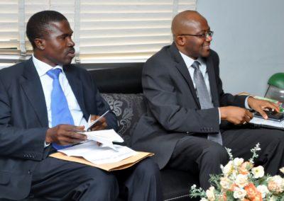 Prof. Ebuehi & Dr. Bola Osinowo at the FIIRO DG/CEO's office